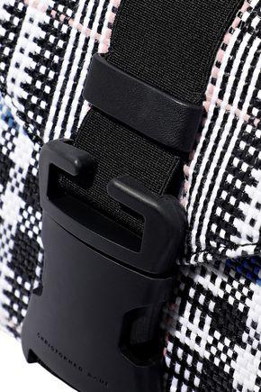 CHRISTOPHER KANE Devine leather-trimmed tweed shoulder bag