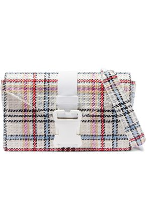 CHRISTOPHER KANE Devine checked tweed shoulder bag