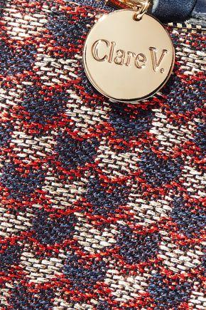 CLARE V. Calf hair clutch