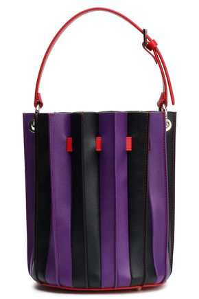 SARA BATTAGLIA Color-block leather bucket bag
