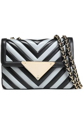 SARA BATTAGLIA Striped leather shoulder bag