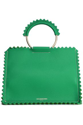 SARA BATTAGLIA Textured-leather tote