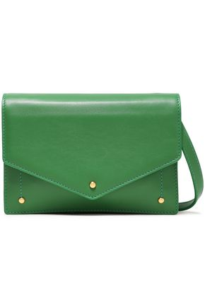 SARA BATTAGLIA Color-block leather clutch