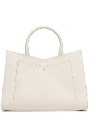 SARA BATTAGLIA Color-block leather tote