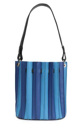 SARA BATTAGLIA Pleated textured-leather shoulder bag
