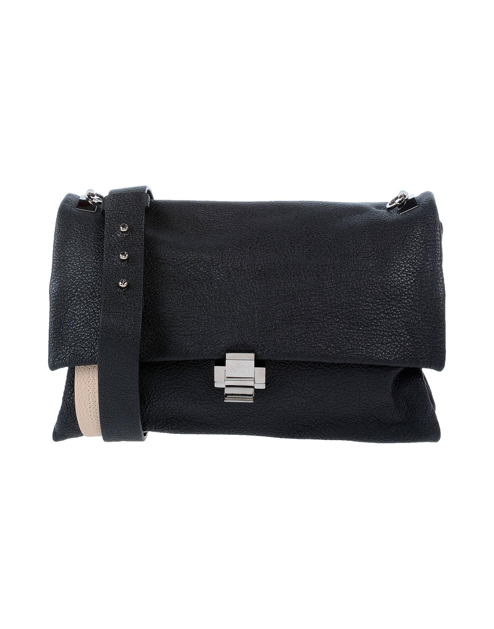 《送料無料》N°21 レディース ハンドバッグ ブラック 革