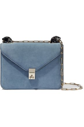 VALENTINO GARAVANI Embellished suede shoulder bag