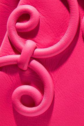 VALENTINO GARAVANI Appliquéd leather envelope clutch