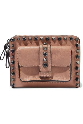 VALENTINO GARAVANI Rockstud Rolling textured-leather shoulder bag