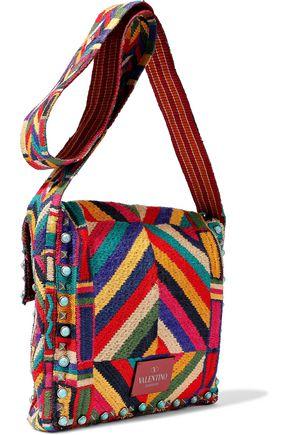 Embellished Garavani Woven Bag Shoulder Valentino CXBUqwFxn