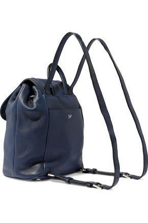 DIANE VON FURSTENBERG Textured-leather backpack