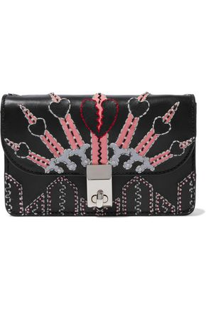 VALENTINO GARAVANI Love Blade embellished leather shoulder bag