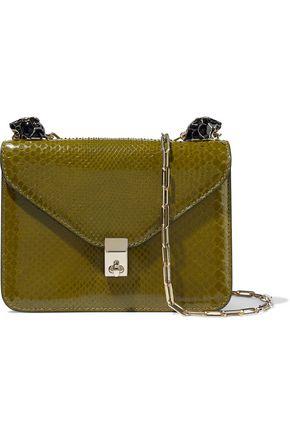 VALENTINO GARAVANI Panther snake-effect leather shoulder bag