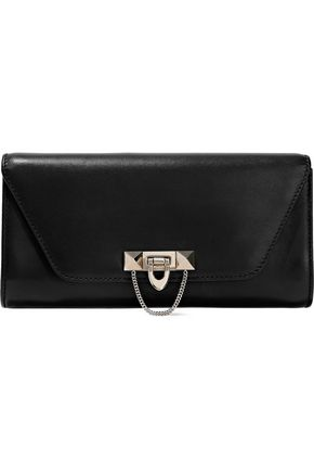 VALENTINO GARAVANI Stud-embellished leather clutch