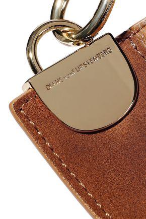 DIANE VON FURSTENBERG Moon suede-paneled leather shoulder bag
