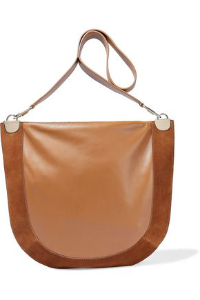 DIANE VON FURSTENBERG Moon suede-paneled leather shoulder bag
