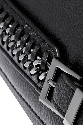 DIANE VON FURSTENBERG Iggy chain-trimmed textured-leather clutch