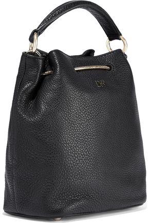 DIANE VON FURSTENBERG Love Power textured-leather bucket bag
