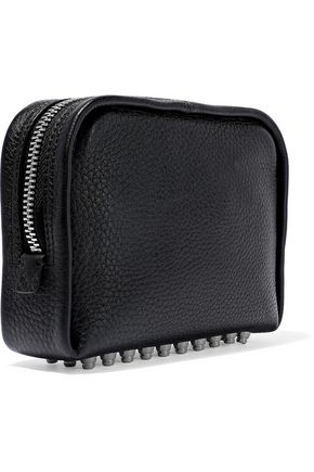 ALEXANDER WANG Fumo studded pebbled-leather cosmetics case