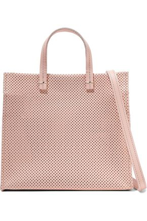 CLARE V. Simple perforated leather tote