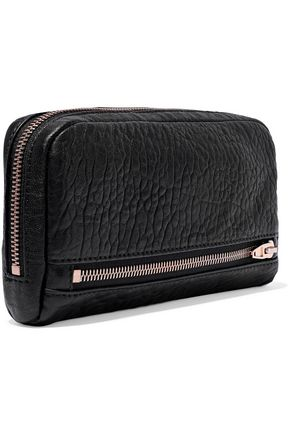 ALEXANDER WANG Fumo pebbled-leather continental wallet