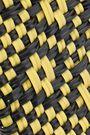 TRUSS Two-tone woven raffia-effect clutch