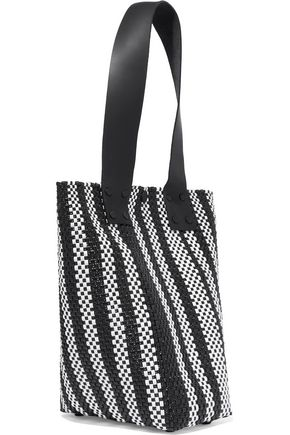 2a2467b184 TRUSS Le Sac striped woven raffia-effect tote