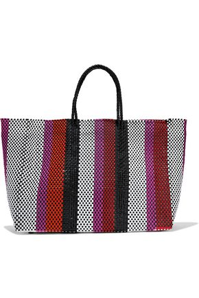 TRUSS Striped woven tote