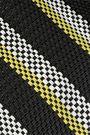 TRUSS Striped woven raffia-effect tote
