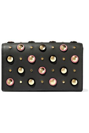 DIANE VON FURSTENBERG Soiree studded leather shoulder bag