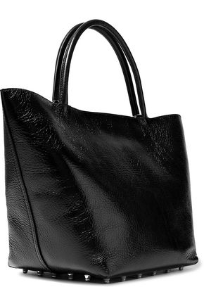 Alexander Wang Coated Textured-leather Tote In Black