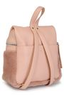 KARA Textured-leather and shearling backpack