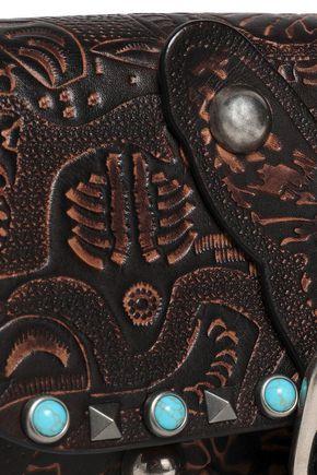 VALENTINO GARAVANI Rockstud Rolling embossed leather shoulder bag