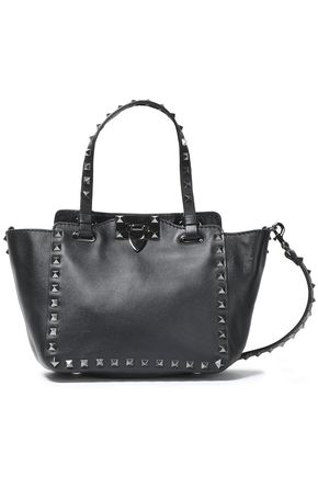 VALENTINO   Valentino Garavani Rockstud Leather Shoulder Bag   Goxip