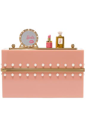 CHARLOTTE OLYMPIA Embellished perspex clutch