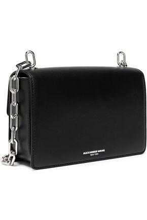 ALEXANDER WANG Chain-trimmed leather shoulder bag