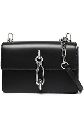 ALEXANDER WANG Chain-trimmed leather shoulder bag