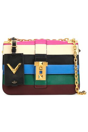 VALENTINO GARAVANI Striped leather shoulder bag