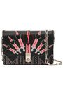 VALENTINO GARAVANI Embroidered leather shoulder bag