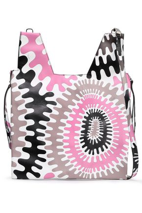 EMILIO PUCCI Zip-detailed printed leather tote