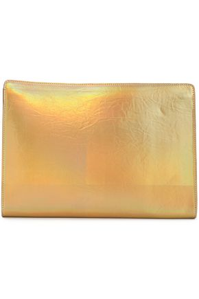 STELLA McCARTNEY Iridescent faux leather clutch
