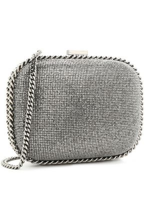 STELLA McCARTNEY Crystal and chain-embellished faux leather shoulder bag