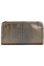 STELLA McCARTNEY Chain-embellished faux suede snake-print clutch