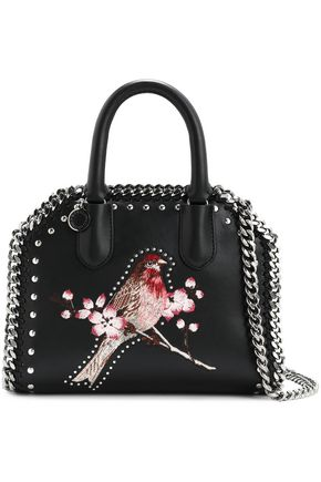 b11354eae946 STELLA McCARTNEY Embellished faux leather shoulder bag