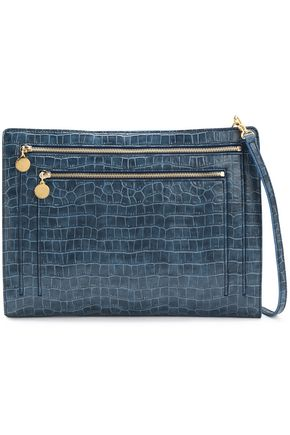 90205d5316d5 STELLA McCARTNEY Croc-effect faux leather clutch