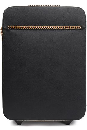 STELLA MCCARTNEY | Stella Mccartney Chain-trimmed Faux Pebbled-leather Suitcase | Goxip