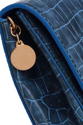 STELLA McCARTNEY Croc-effect faux leather clutch
