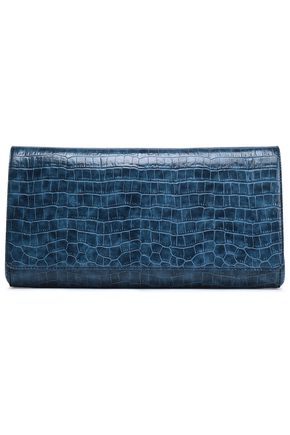 STELLA McCARTNEY Croc-effect faux leather clutch