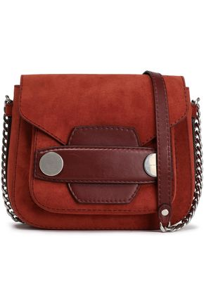 STELLA McCARTNEY Faux suede and leather shoulder bag