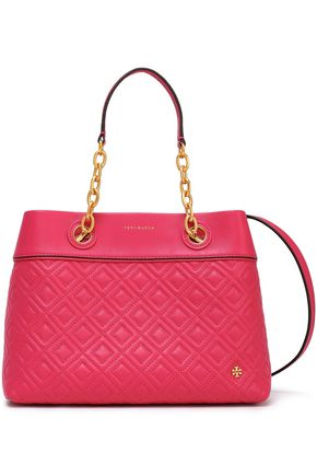 TORY BURCH | Tory Burch Quilted Leather Tote | Goxip